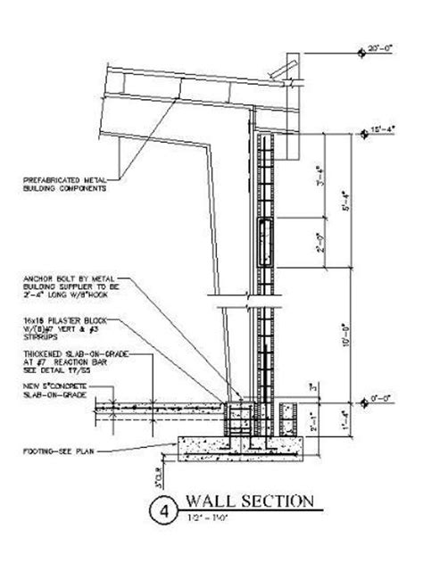 steel building section prefabricated metal building wall section with cmu