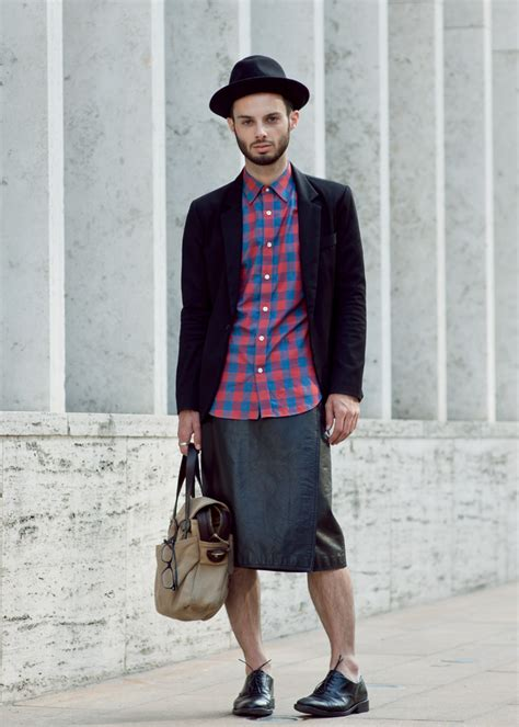 Would You Wear A Mans Clothes by Dude Skirt Wearing Skirt In Skirts Mens Skirts
