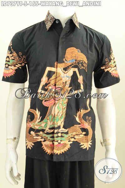 Hem Batik Padi by Hem Batik Tulis Dasar Hitam Motif Wayang Dewi Sri A K A