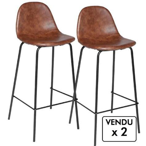 Tabouret De Bar Style Industriel by Lot De 2 Chaises De Bar Style Industriel Coloris