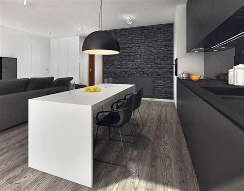 Superior  Fregaderos Para Cocina Economicos #8: Cocina-minimalista-blanca-y-negra4.jpg