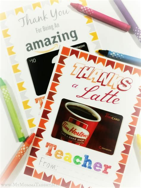 Teacher Appreciation Gift Card Holder Printable - free printable teacher appreciation gift card holders