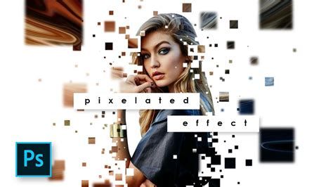 tutorial photoshop sub indonesia cara edit foto pixelated effect dipresion effect