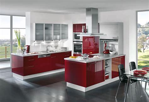 imagenes de cocinas rojas cocinas modernas blancas y rojas
