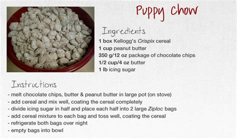 puppy chow recipe puppy chow recipe by xoroshani on deviantart
