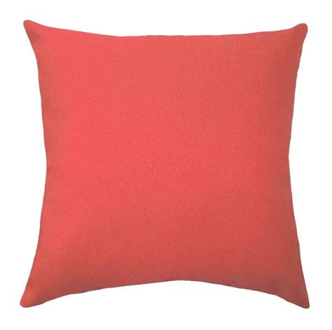 solid coral throw pillow coral decorative pillow coral