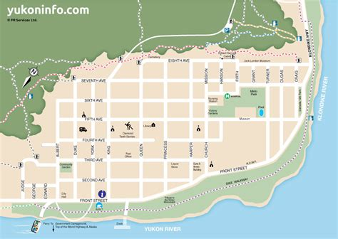 city map dawson city map