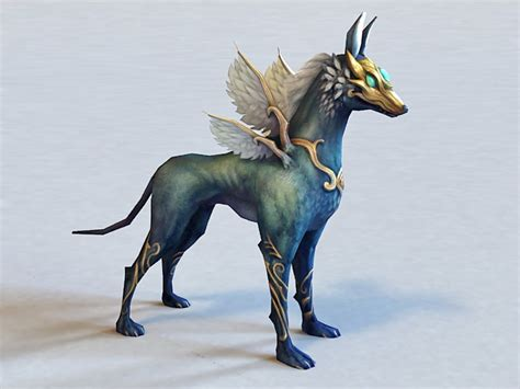 anime winged wolf  model ds max files