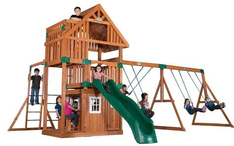 Best Wooden Swing Sets Swing Set Resource