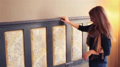 how to mount a door as a headboard make an upholstered headboard buildipedia diy youtube