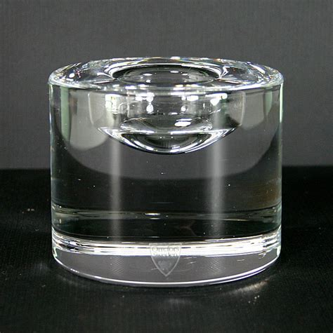 Single Stem Vase Orrefors Crystal Puck Votive Xl Candle Holder