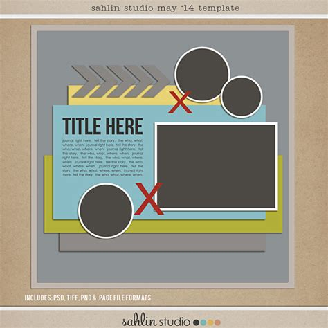 free digital scrapbooking template may 2014 sahlin