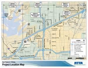tollway map sam rayburn tollway srt