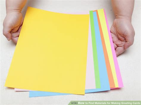 card materials 3 ways to find materials for greeting cards wikihow
