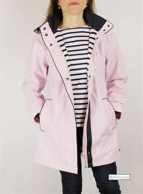 A I Home Decor women s waterproof jacket pink hooded striped lined