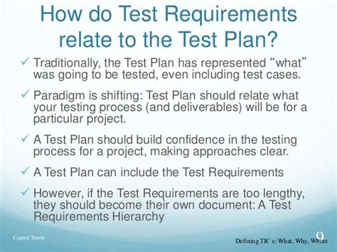 Tester Requirements by Test Requirements For Sqa