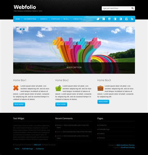 wordpress themes to download webfolio wordpress theme download it for free from site5