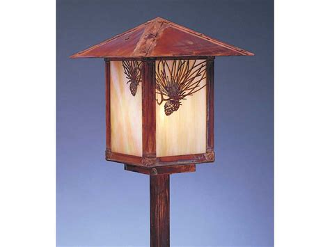 Arroyo Craftsman Evergreen Outdoor Post Mount Light Esp 9 Evergreen Outdoor Lighting