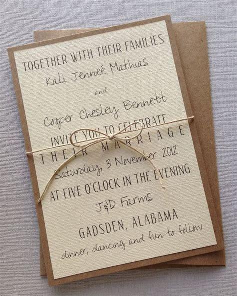 simple wedding invitation format rustic modern wedding invitations invitation wording
