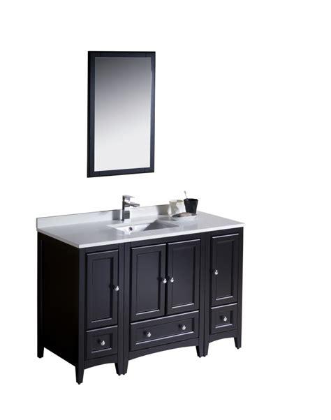 bathroom vanity 48 inches single sink 48 inch single sink bathroom vanity in espresso