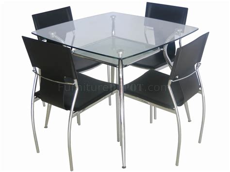glass top metal legs modern square dining table w shelf