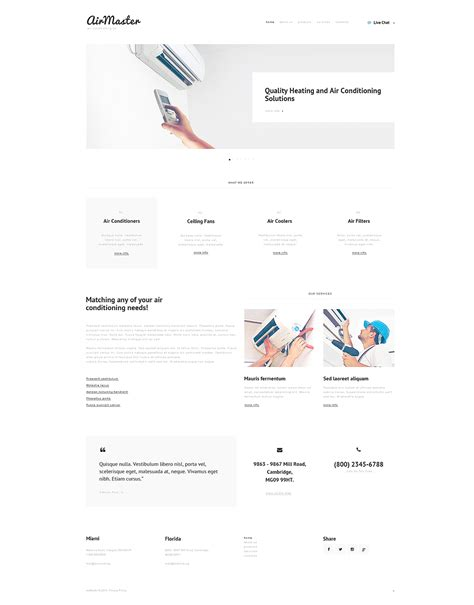 Air Conditioning Responsive Website Template 47647 Heating And Air Conditioning Website Templates