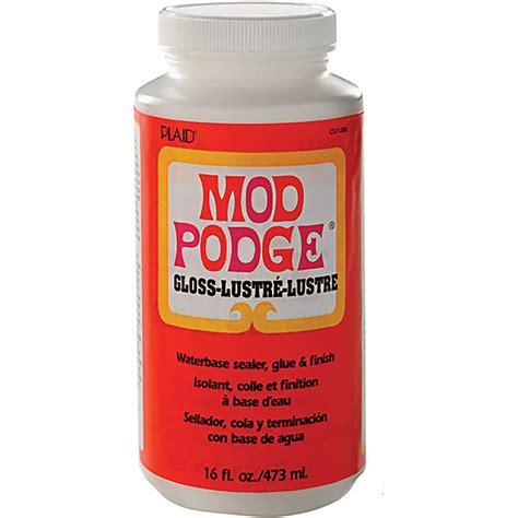 How To Decoupage With Mod Podge - 16oz mod podge gloss glue sealer wine glass glitter