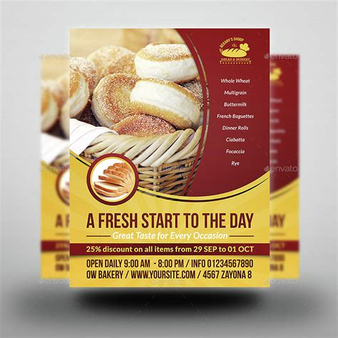 Bakery Flyer Template Vol 3 By Owpictures Graphicriver Bakery Flyer Templates Free