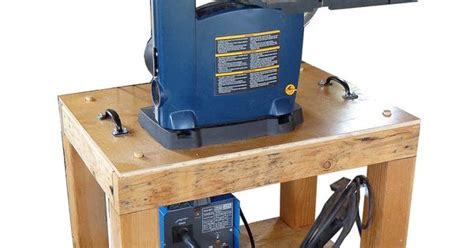 bench mounted band saw a 14 quot band saw mounted on the roll around bench