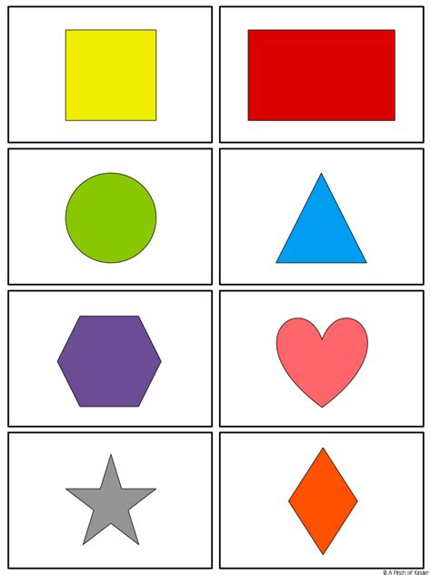 Shape 2 D teaching 2d shapes in fdk a pinch of kinder