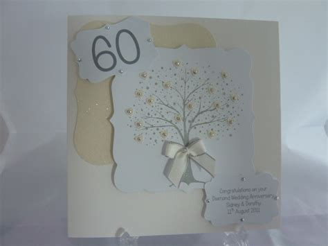 Handmade 60th Wedding Anniversary Cards - 17 best images about 60th wedding anniversary on