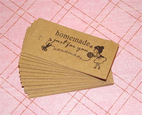 Handmade Tags - 25 just for you kraft tags gift tags gift