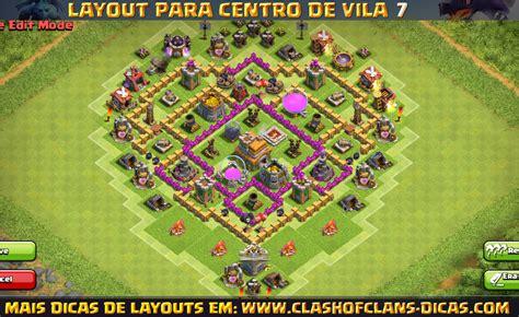layout cv 7 clash of clans layouts de cv7 para clash of clans clash of clans dicas