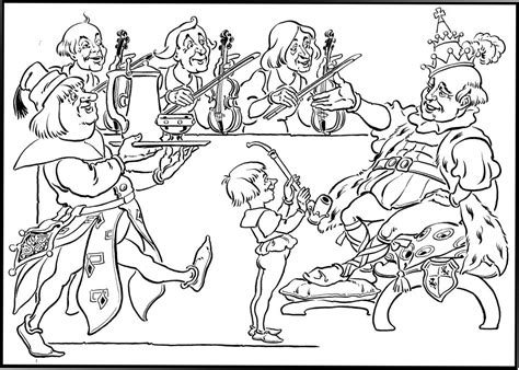 old king cole coloring page coloring home