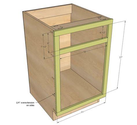 ana white build   base cabinet doordrawer combo
