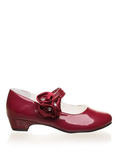 burgundy shoes flower shoes formal