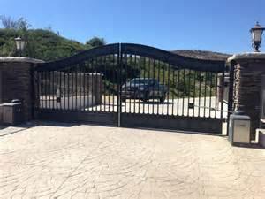 iron driveway gates installation repair los angeles