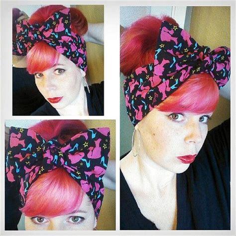 1940s bandana hairstyles barbie headwrap bandana hair big bow tie 1940s 1950s