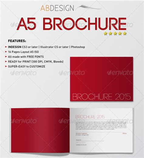a5 brochure template a5 booklet design