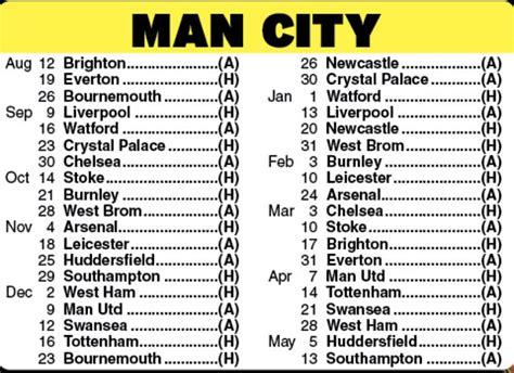 epl upcoming games man city fixtures premier league 2017 18 fixtures