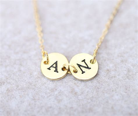 jual kalung nama two inisial gold lapis emas alza shop