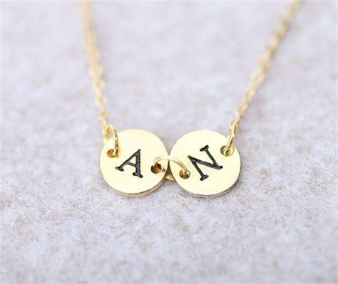 Kalung Nama Inisial Lapis Emas Perhiasan Nama Lapis Emas 9 jual kalung nama two inisial gold lapis emas alza shop