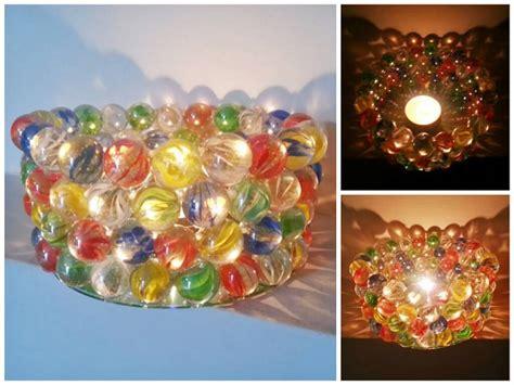 costruire candele come realizzare dei porta candele con le biglie di vetro