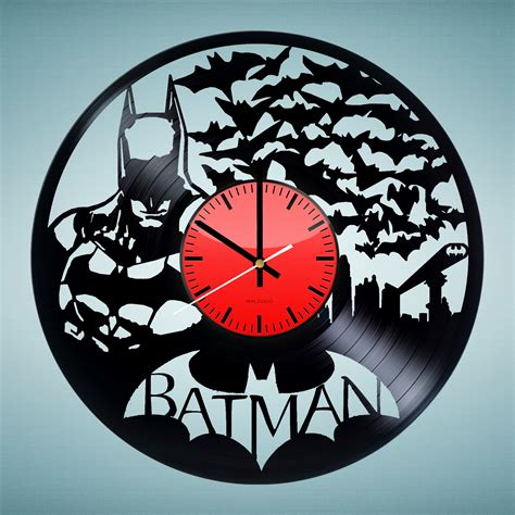 Handmade Wall Clocks - batman handmade vinyl record wall clock fan gift vinyl
