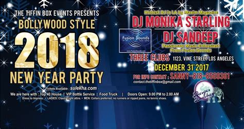 new year events 2018 los angeles style 2018 new year in the three clubs