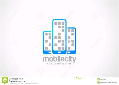 design online mobile mobile phones logo design mobile city business co stock