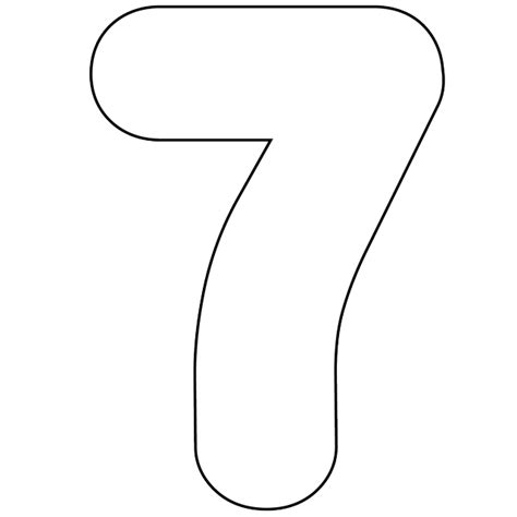 printable numbers black and white 7 best images of large printable number 7 large stencil