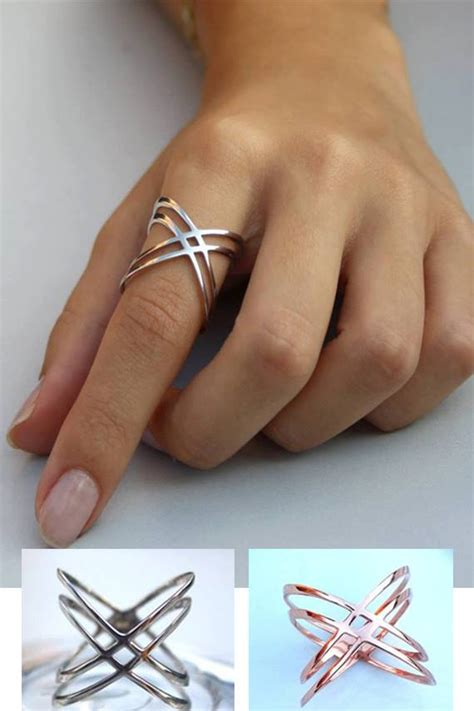 x ring criss cross ring gold x ring sterling silver x