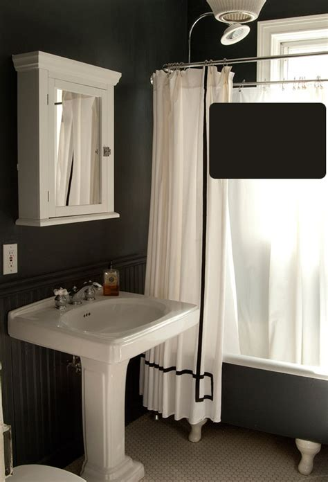 black paint bathroom 2017 grasscloth wallpaper