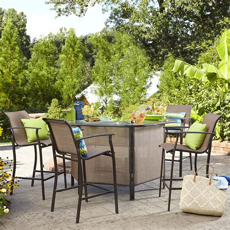 Garden Oasis Harrison 5 Piece Bar Set Limited Availability Bar Set Patio Furniture
